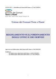 Unione dei Comuni Terre e Fiumi REGOLAMENTO SULL ...