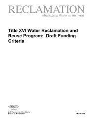Title XVI Draft Criteria - Bureau of Reclamation
