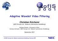 Adaptive Wavelet Video Filtering - ResearchGate