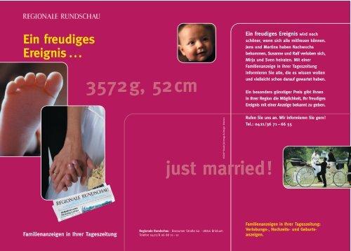 3572g, 52cm just married! - Weser Kurier