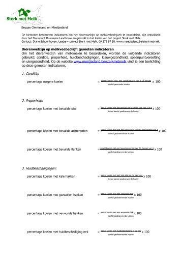 Invuloverzicht: gemeten indicatoren - Meetjesland.be