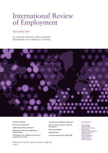 International Review of Employment - rowlands international