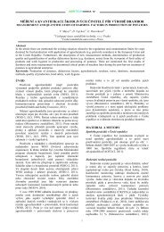 měření a kvantifikace škodlivých činitelů při výrobě brambor