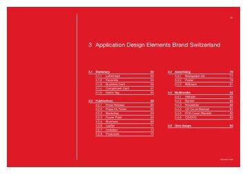 3 Application Design Elements Brand Switzerland - Präsenz Schweiz