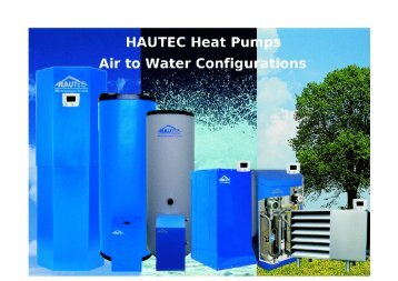 suggested schematics for external air to water heat pumps