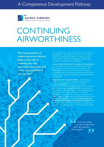 continUinG AirWortHineSS - Baines Simmons