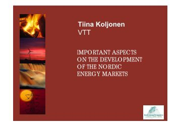 Tiina Koljonen VTT - Nordicenergyperspectives.org