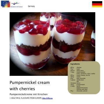 Pumpernickel cream with cherries - Comenius Multilateral ...