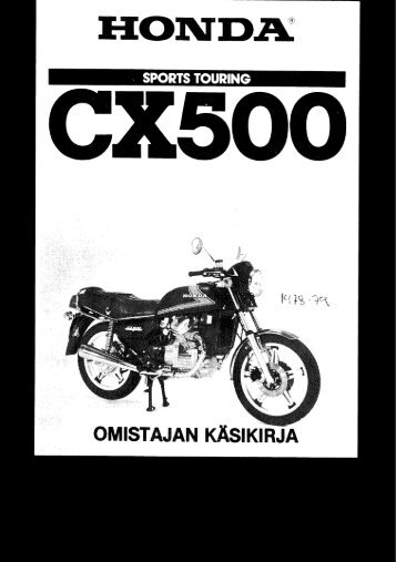 CX500 1978-79 käsikirja (.pdf, 1.68 MB) - Honda