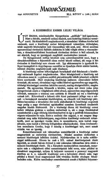 Magyar Szemle 41. kötet (1941. 7-12. sz.) - izamky.sk