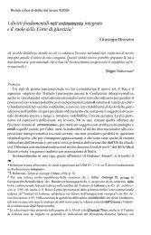 I diritti fondamentali nell'ordinamento integrato e il ruolo ... - Studium