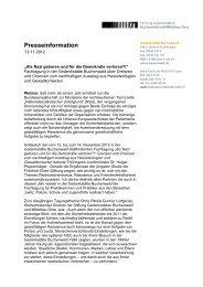 PM Fachtagung Rechtsextremismus - Gedenkstätte Buchenwald