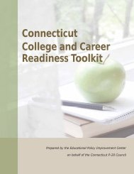 Connecticut College and Career Readiness Toolkit