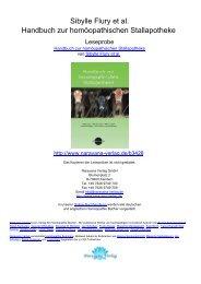 Sibylle Flury et al. Handbuch zur homöopathischen Stallapotheke