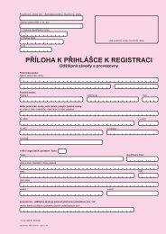 Příloha k přihlášce k registraci - Odštěpné závody a - Praha 1