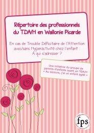 Répertoire des professionnels du TDA/H en Wallonie ... - Visualis