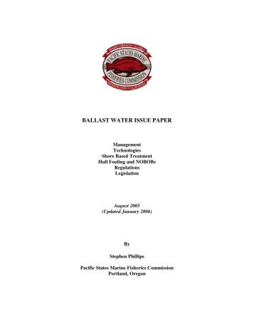 BALLAST WATER ISSUE PAPER - Pacific States Marine Fisheries ...