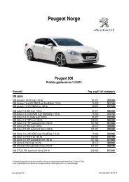 Kundeprislister personbiler april 2012(1) - Peugeot