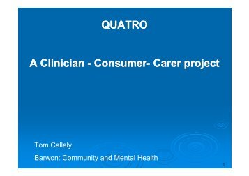 Consumer - Australian Mental Health Outcomes and Classification ...
