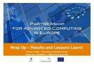 Wrap Up – Results and Lessons Learnt - prace