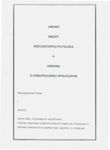 Umowa - Ministerstwo Pracy i Polityki Społecznej