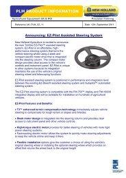 PLM Product Pre-Information EZ-Pilot.pdf - New Holland PLM Portal