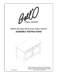 ASSEMBLY INSTRUCTIONS - Bell'O