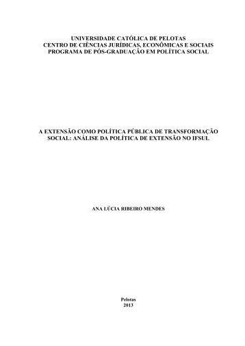 A EXTENSÃO COMO POLÍTICA PÚBLICA DE TRANSFORMAÇÃO ...