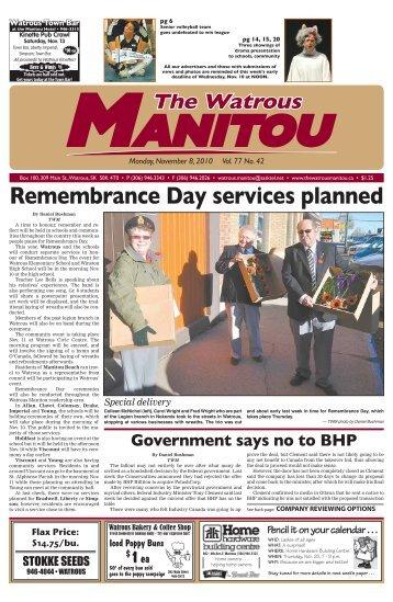 November 8, 2010.pdf - Watrous Heritage Centre
