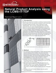 Natural Product Analysis using the LCMS-IT-TOF - Shimadzu