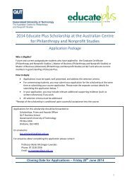 Educate Plus ACPNS Scholarship application guide - QUT