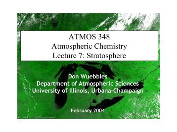 Stratospheric Chemistry and Ozone - Department of Atmospheric ...