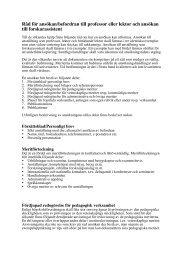 Råd för ansökan/befordran till professor eller lektor och ansökan till ...
