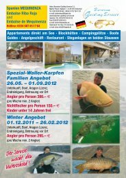 Spezial-Waller-Karpfen Familien Angebot 26.05. - 01.09.2012