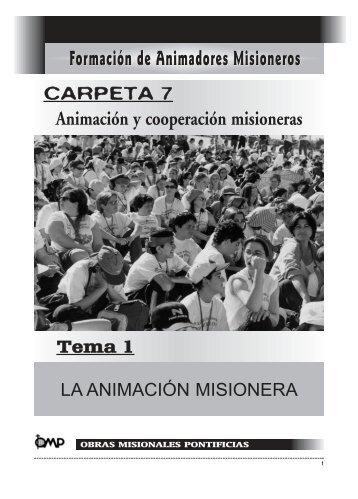 La animación misionera - Obras Misionales Pontificias