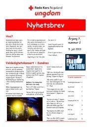 Nyhetsbrev årgang 7 - nr. 2/2013 - Røde Kors