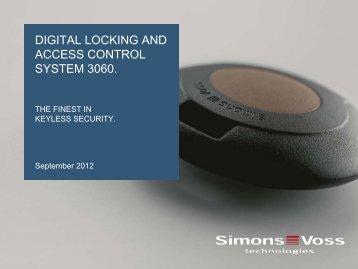 digital locking and access control system 3060. - SimonsVoss ...