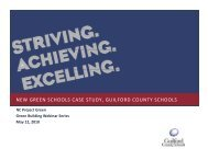 new green schools case study, guilford county ... - NC Project Green