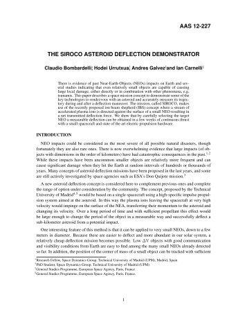 aas 12-227 the siroco asteroid deflection demonstrator