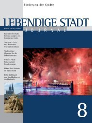 Journal 08 zum downloaden (PDF 2,1 MB - Lebendige Stadt