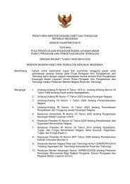 keputusan menteri negara riset dan teknologi - JDIH Ristek