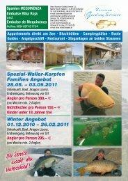 Campingplätze · Boote Guides · Angelgeschäft · Restaurant