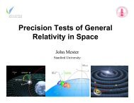 Precision Tests of General Relativity in Space - Gravity Probe B ...