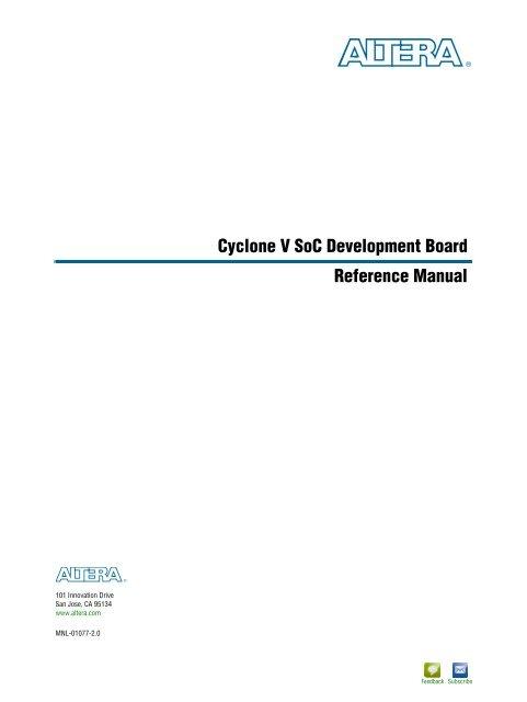 Cyclone V SoC FPGA Development Board Reference Manual - Altera