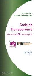 Code de transparence AFG- FIR
