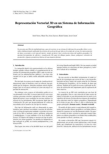 Representación Vectorial 3D en un Sistema de Información ...