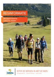 Reisinformatie Bergsportkamp Julische Alpen - Bergsportreizen