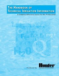The handbook of Technical irrigaTion informaTion - Hunter Industries