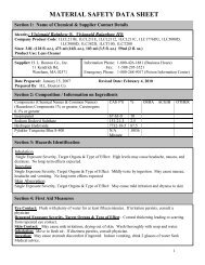 MATERIAL SAFETY DATA SHEET - Arco