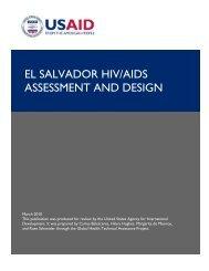 EL SALVADOR HIV/AIDS ASSESSMENT AND DESIGN